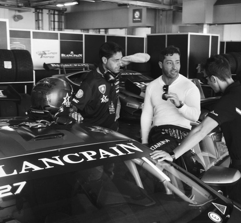 X-ONE Racing Team Owner Benjamin J. Fischer (centre) and Team Manager, Domenico Schiattarella (left) - @ Fuji Speedway Circuit, Japan