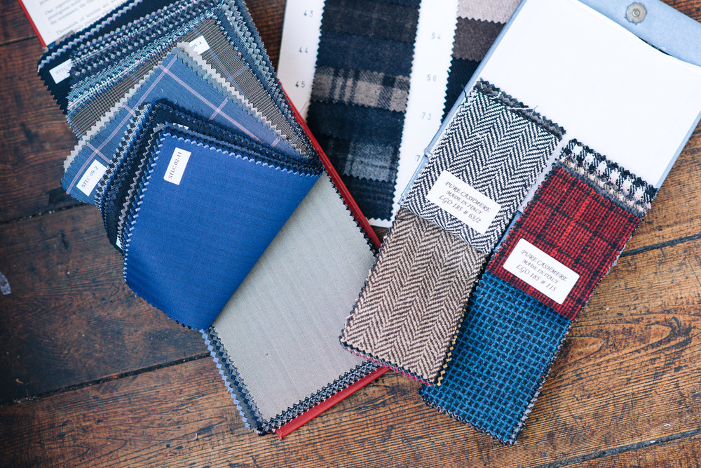 materials, cashmere, tweed, herringbone, checks