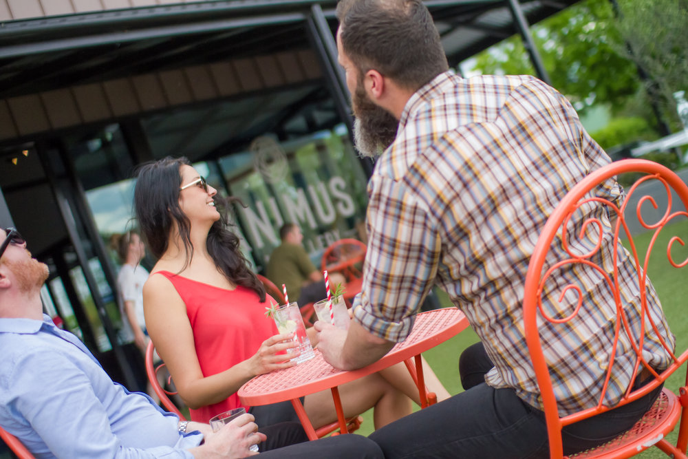Our outdoor seating is perfect for Summer.
