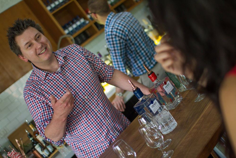 One of our directors, Luke, gives a lively gin tasting.