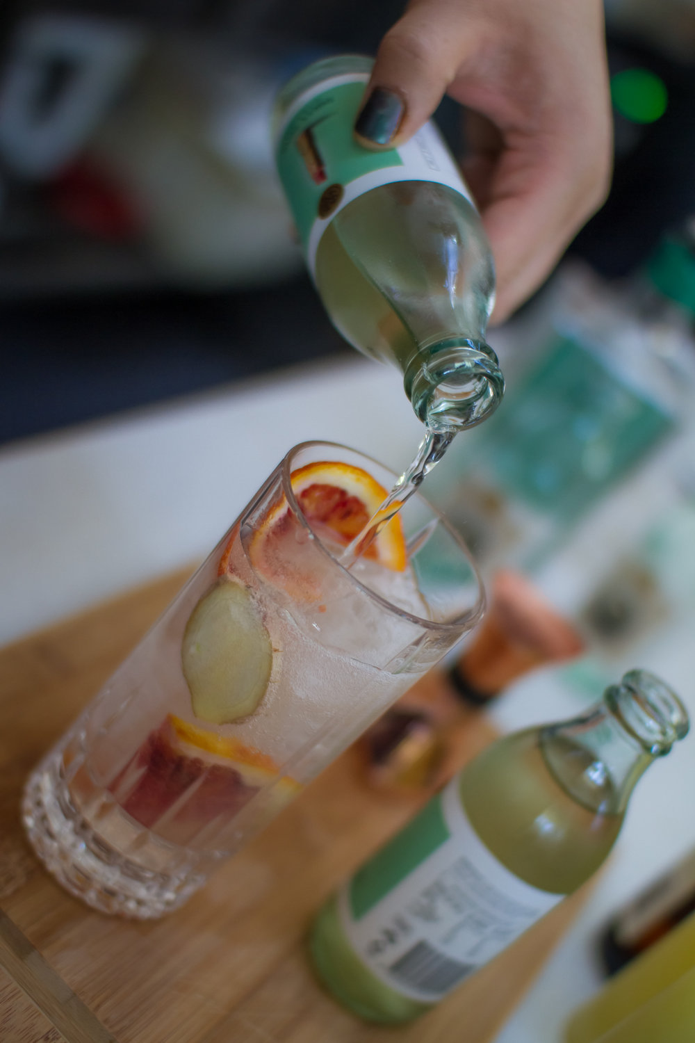 Animus Ambrosian Gin and StrangeLove Dirty tonic, garnished with a slice of blood orange and a sliver of ginger.  Photo: Steve Edwards @steve_sketch