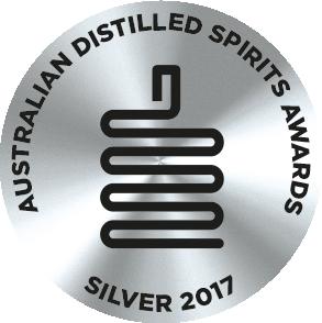 Silver Medal -  Australian Distilled Spirit Awards 2017