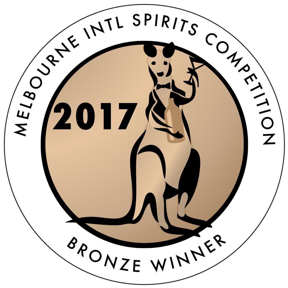 Bronze Medal -  Melbourne International Spirits Competition 2017