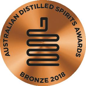 Bronze Medal -  Australian Distilled Spirit Awards 2018