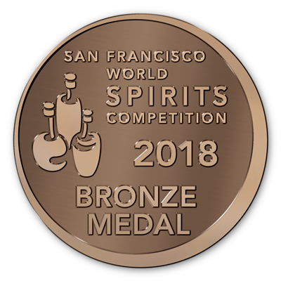 Bronze Medal -  San Francisco World Spirits Competition 2018