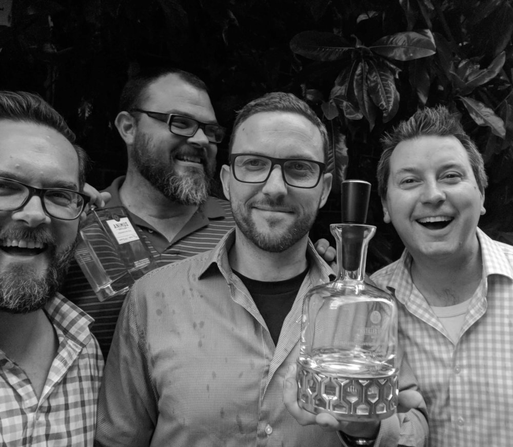 Rob, Joel, Aaron and Luke, the four founders of Animus Distillery