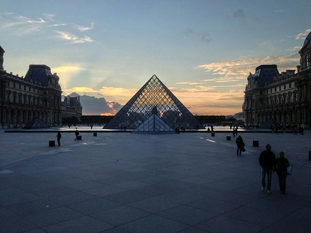 Louvre's Pyramid. Paris.