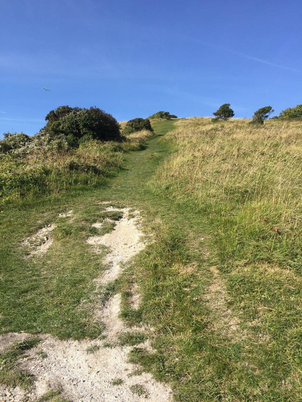 Huge last hill at Beachy Head