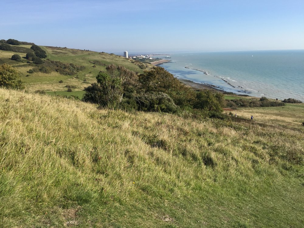View back to Eastbourne