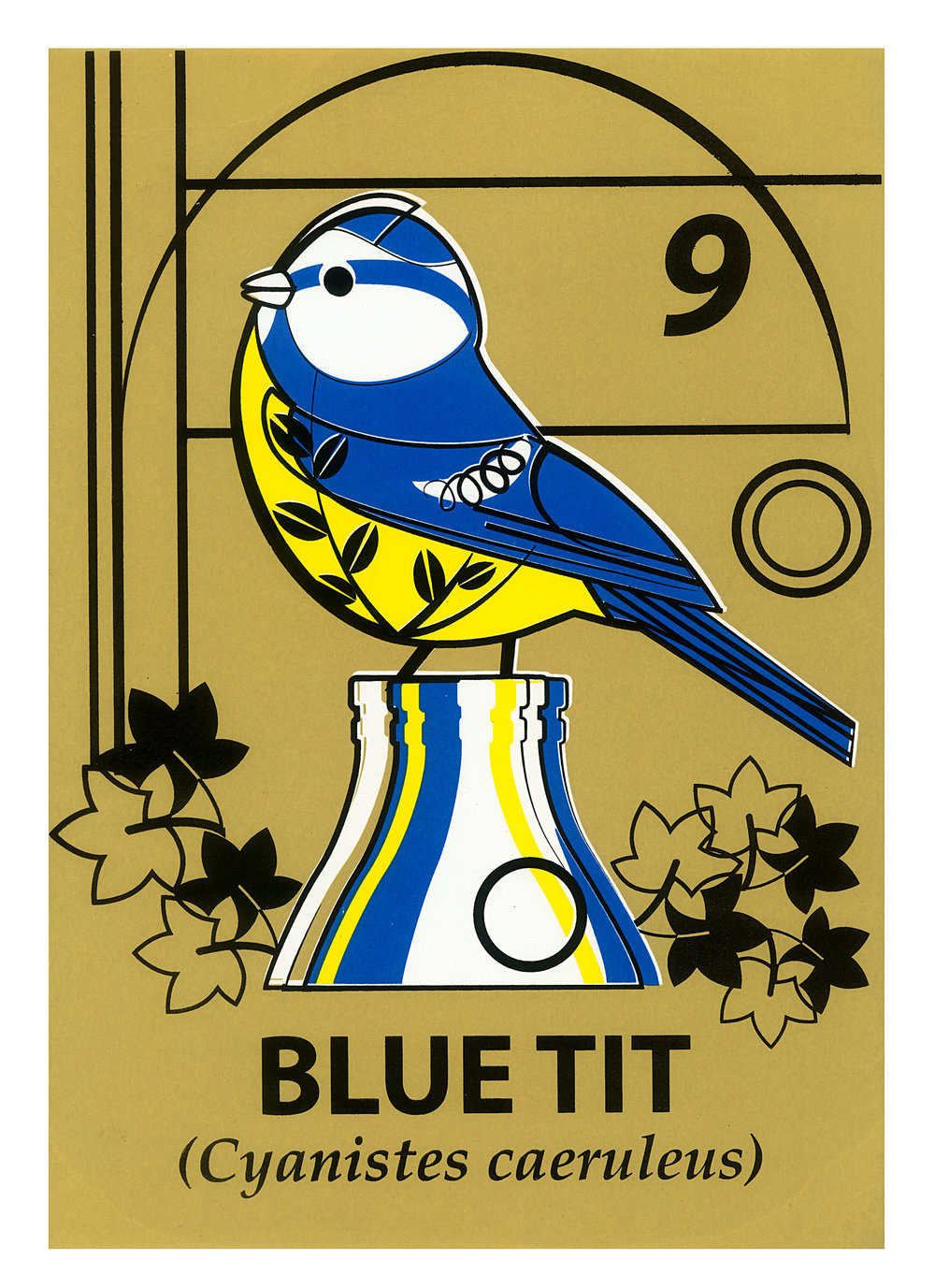 Limited Edition Blue Tit Screenprint