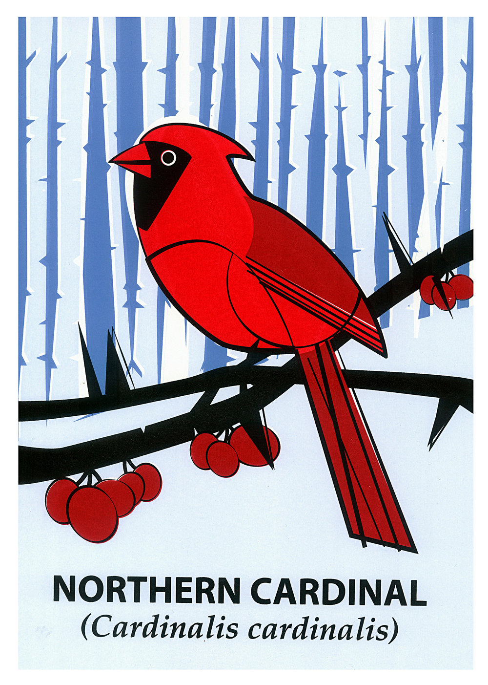 Limited Edition Northern Cardinal Screenprint