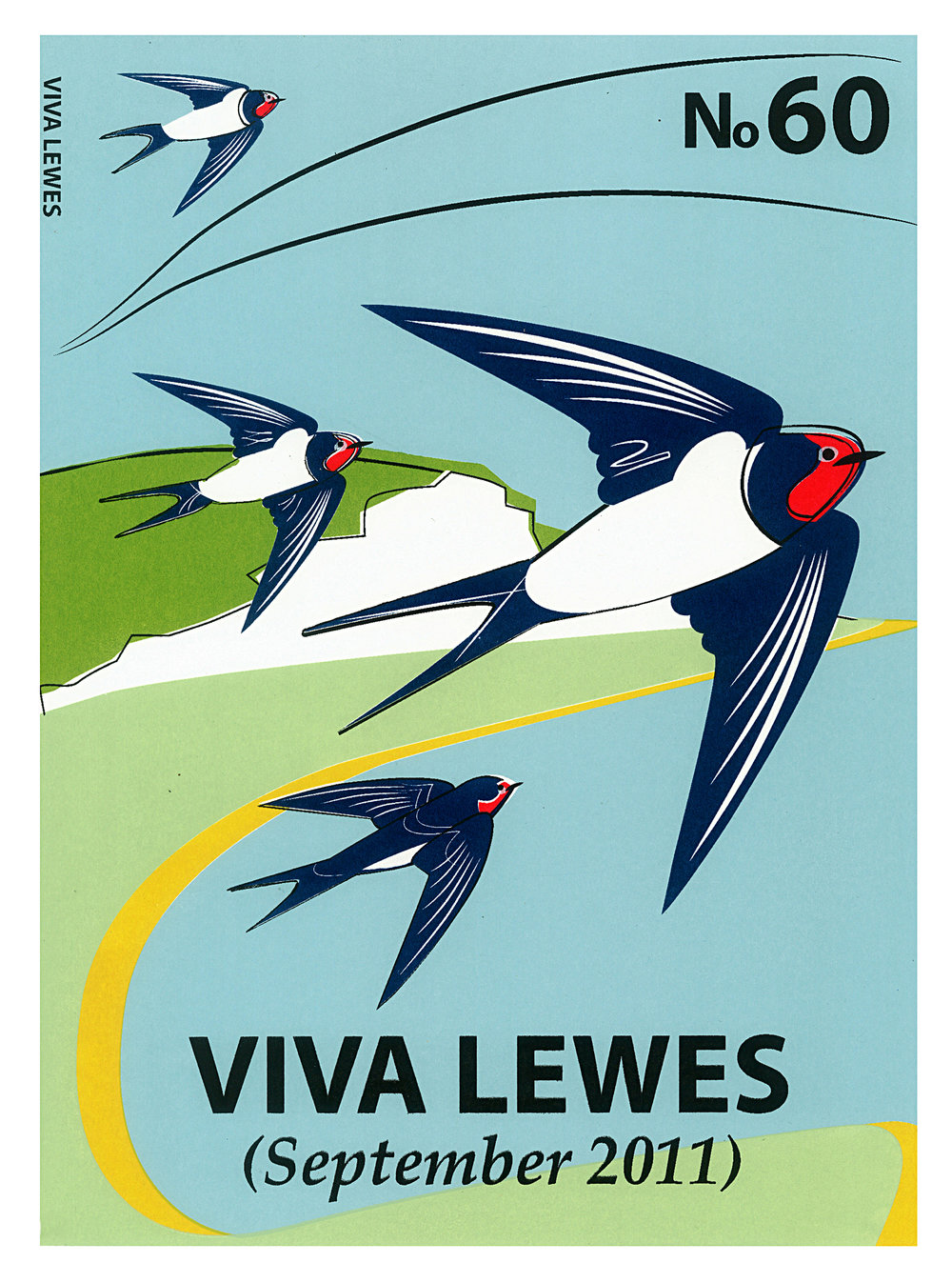Limited Edition Swallows Screenprint