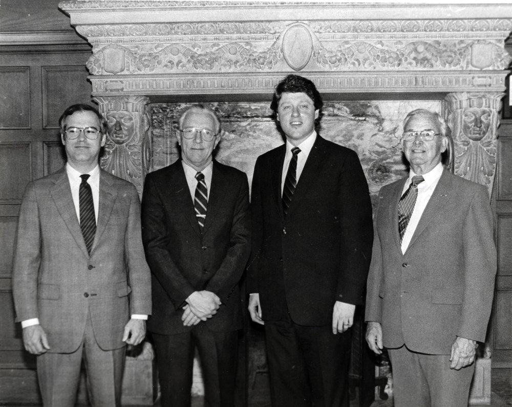 Dick Holbert_Charles Smith _Gov. Bill Clinton_Claud Holbert.jpg