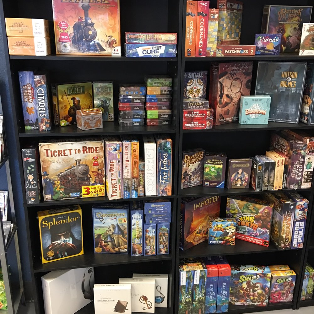 Retail  - We offer select games for sale in our retail area. If the game you are looking for is not available to buy, we can place special orders (usually fulfilled within one week). We'll give you 10% off for supporting local and being patient. We also offer pre-orders on new games and reprints with a $10 refundable down payment that guarantees you a copy.Education discounts, corporate orders, and games for cafes/bars are available, please contact us at contact@tablesbgs.com