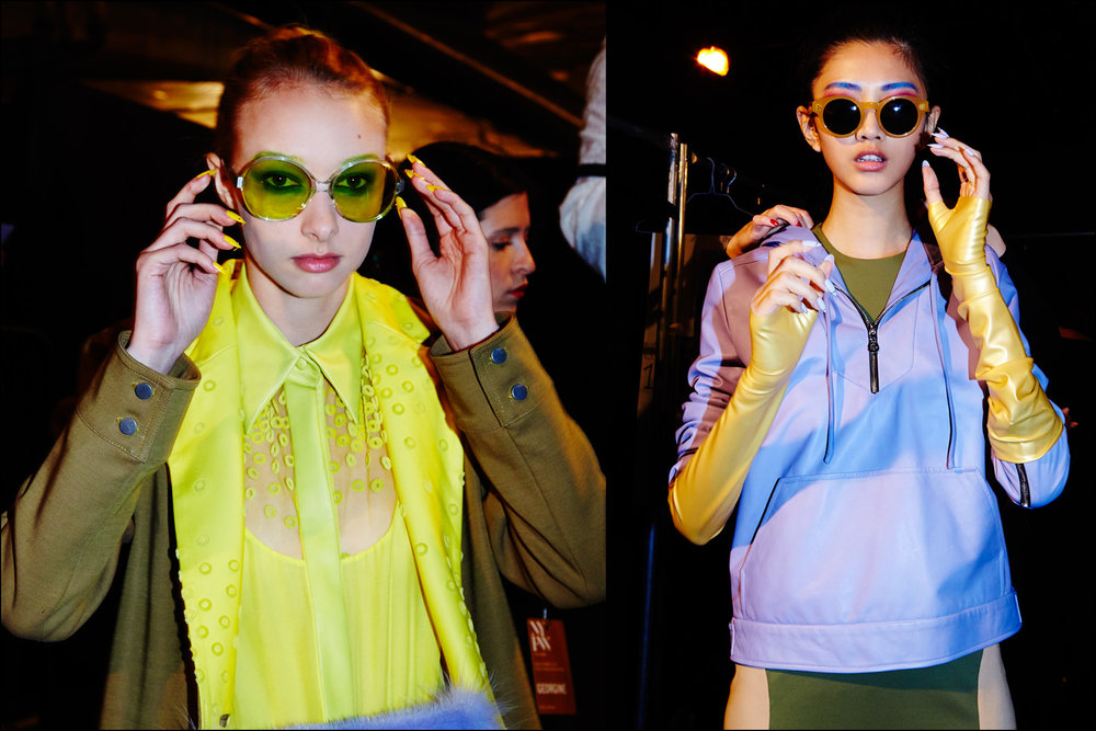 Models in sunglasses at Georgine