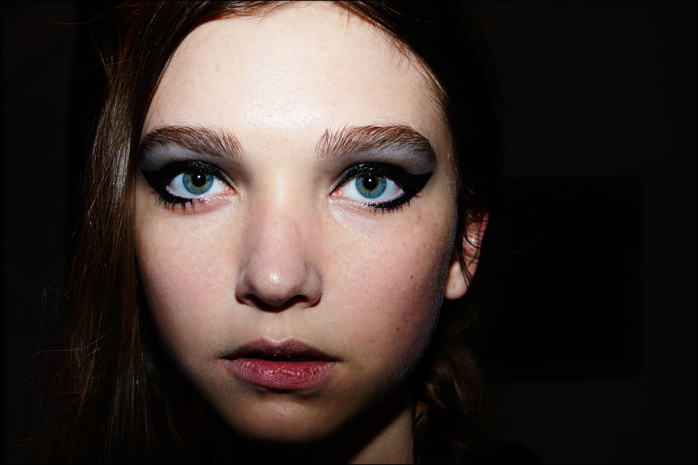 Beauty shot backstage at Libertine