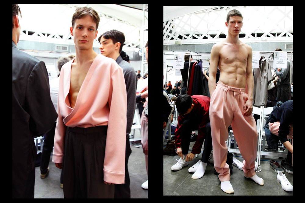 Male models in pink