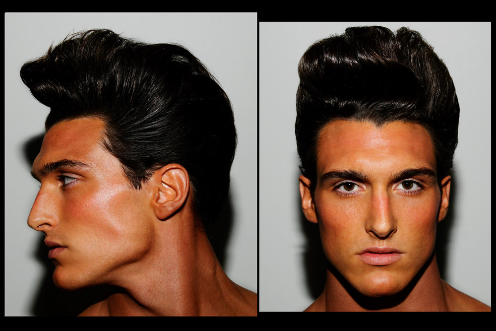 Big pompadours at Martin Keehn