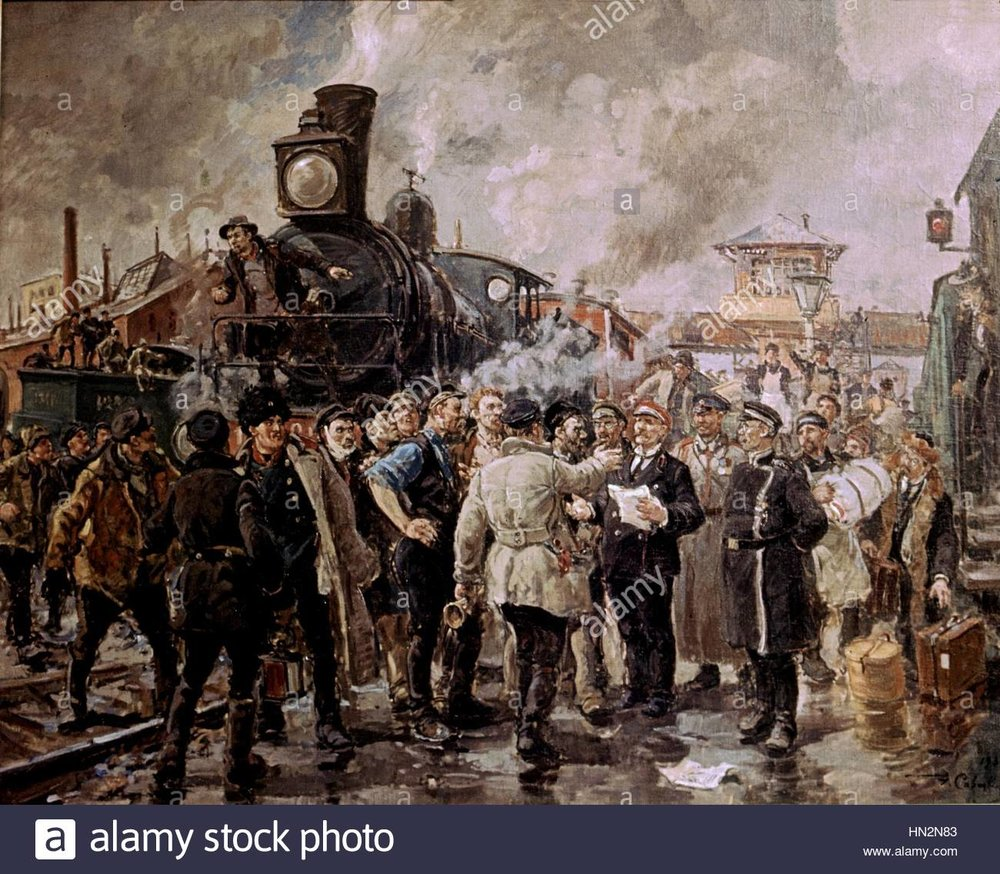 konstantin-savitsky-1841-1905-general-strike-of-railways-1905-russian-HN2N83.jpg
