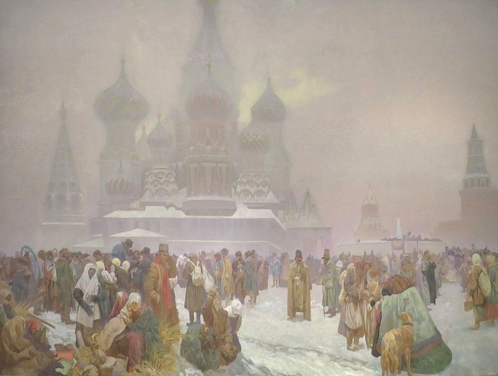 The Abolition of Serfdom in Russia, Alphonse Mucha (1914).jpg