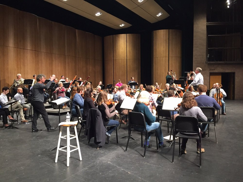 Conducting the Fargo-Moorhead Symphony Orchestra
