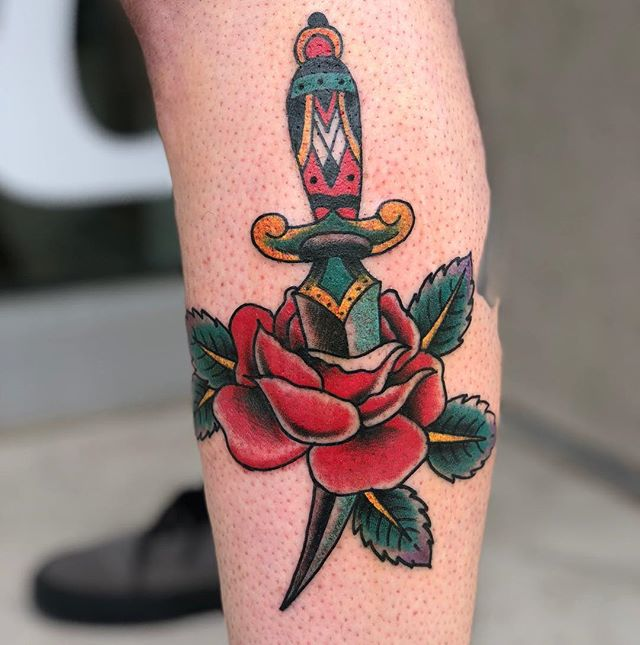 Thanks Erik! 🗡🌹 @highhandstattoo
