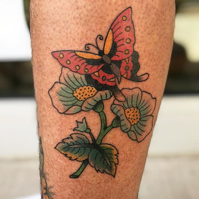 Thank you Duncan! @muricarunsonduncan @highhandstattoo #tattoo #newmexico #butterfly