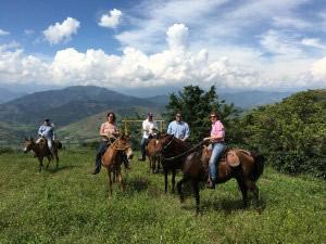 Touring Orizaba by horseback