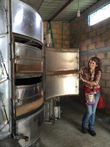 Coffee dryer at El Zafira