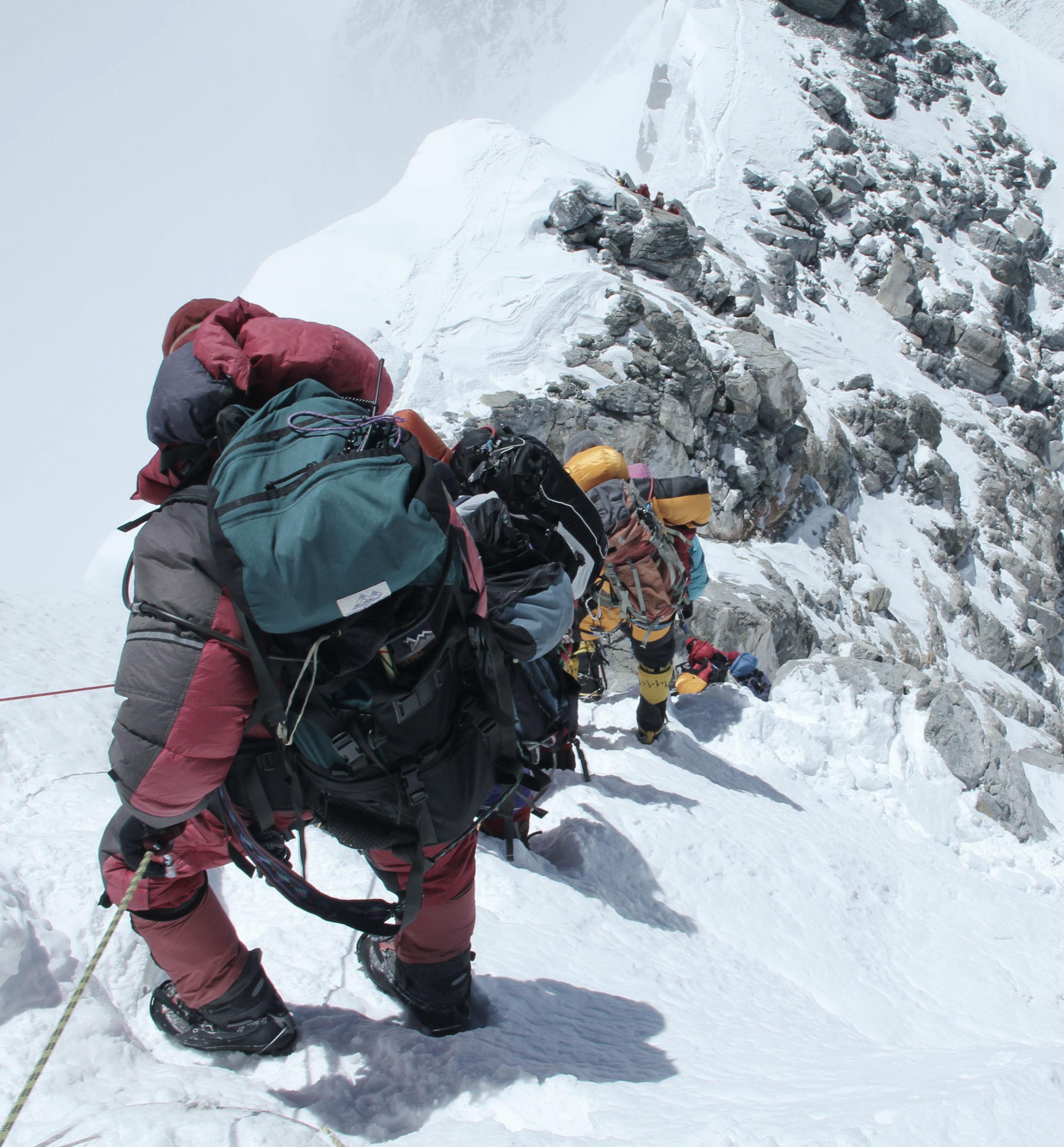 Climbing above Hillary Step