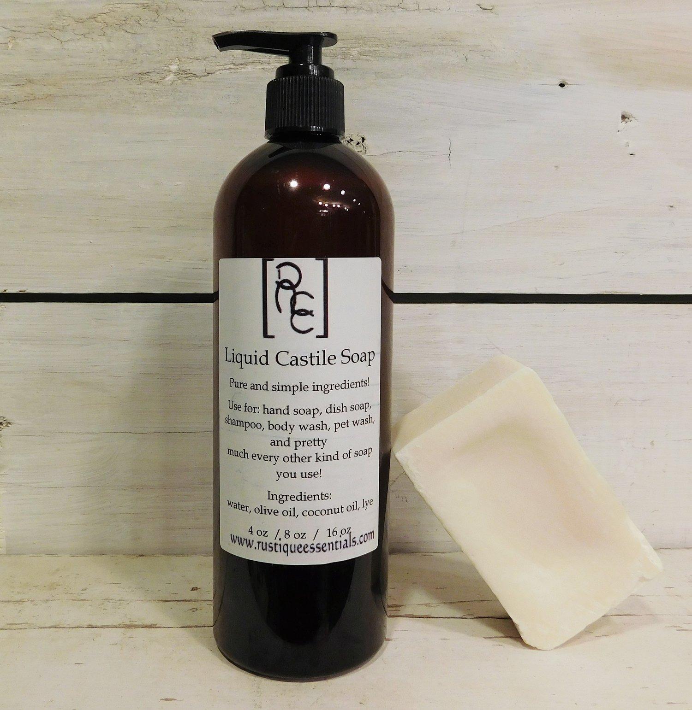 Liquid Castile Soap — Rustique Essentials