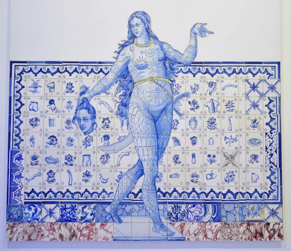 ADRIANA VAREJÃO, 1998 – óleo sobre tela -200 x 200 cm