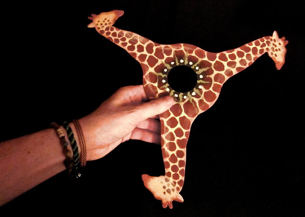 Giraffe Boomerang   | Acrylic Paint