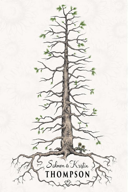 """Guest Tree"" for Wedding   