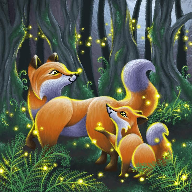 Foxes & Fireflies    |  Commissioned | Digital