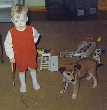 For his second Christmas, Mike Stephenson got a dog, Chris.