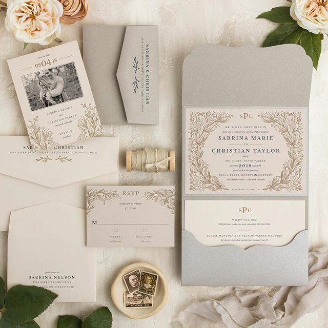 I am loving this color palette and a sweet little monogram.