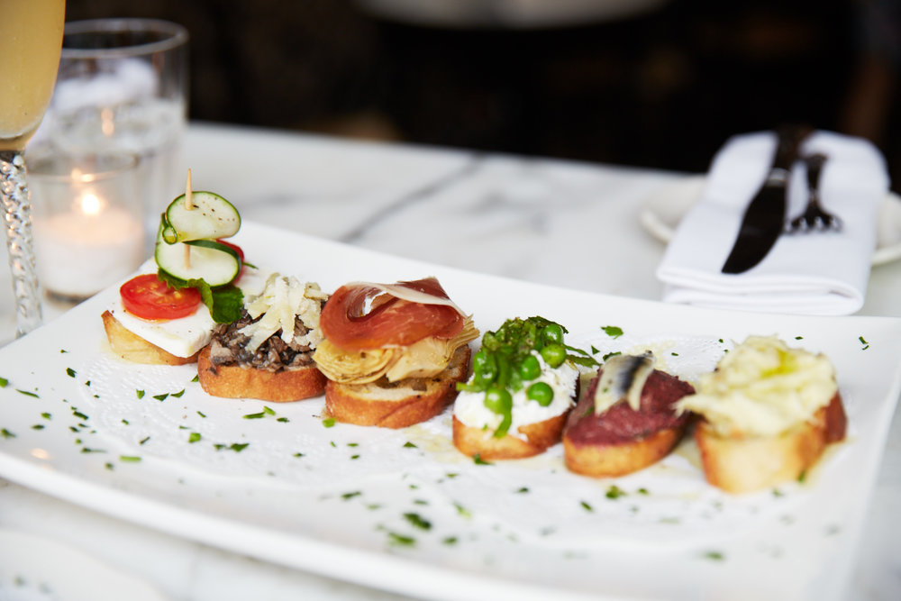 BACARO NYC HAPPY HOUR CROSTINI DEL GIORNO