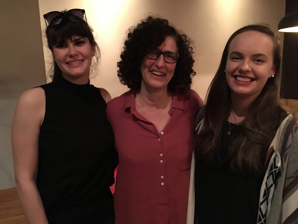 Mia Abarbanel (narrator), b.h. Yael (artist, director, producer) & Abbie Malcolm (actor) at the premiere.  Photo credit: Ali Kazimi