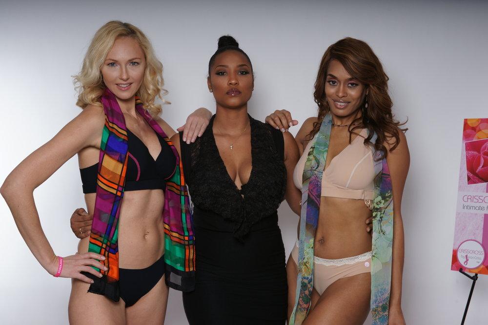 Nicketa Campbell, Makeup Artist (center)