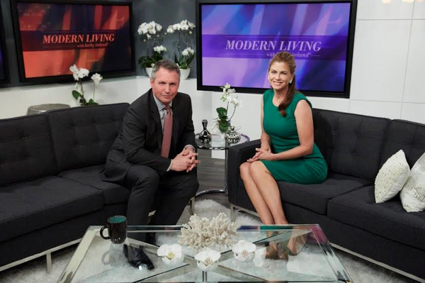 Modern Living on set with Kathy Ireland and featured client
