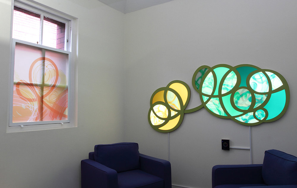 Phase Two - LED artwork next to window design