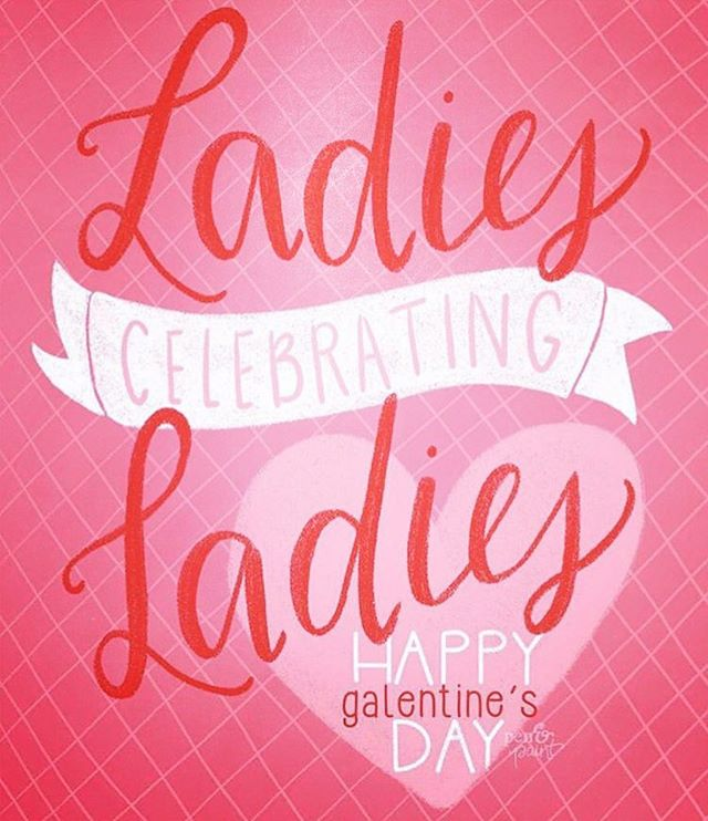 Happy #galentinesday to all the lovely ladies. ❤️