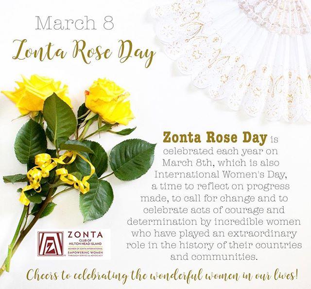 Happy #zontaroseday and #internationalwomensday to the amazing women around the world and in our community. 💛 . . . . . #zonta #zontainternational #hhi #hiltonhead #hiltonheadisland #celebratewomen #empowerwomen #womenempoweringwomen