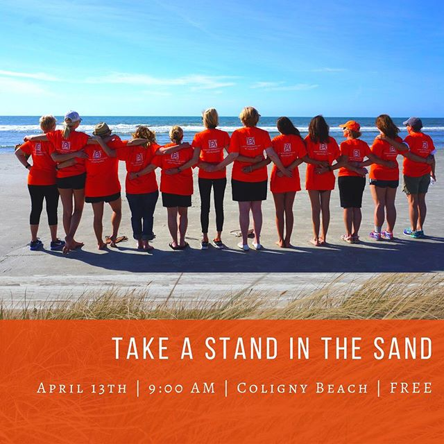 JOIN US ON SATURDAY, APRIL 13TH, at 9:00AM in bringing awareness to sexual assault and domestic violence and giving hope to the survivors in our community ---------- Join the campaign to end violence against women by walking a mile down #ColignyBeach on #hiltonheadisland to raise awareness and bring hope to those in need of healing.  This event is FREE and open to the public but registration required.  Want to provide financial or other support? Email info@zontahhi.org. . . . . #zonta #zontahhi #zontainternational #hhi #hiltonheadbeach #beachwalk #colignybeachhiltonhead