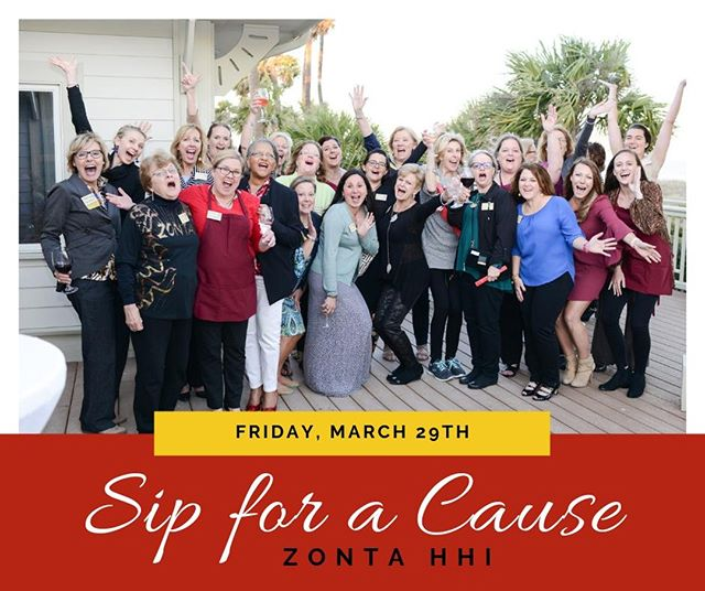 WHY are we so excited? Because THIS week is our Sip for a Cause | Zonta HHI! 🍷  Have you bought your tickets yet? Better jump on it before prices go UP. (And you know you want to save that money for our auction prizes... and more wine... 😉) BUY TIX HERE: https://bit.ly/2usz8yf  #zontahhi #zonta #hiltonhead #hiltonheadisland #supportlocal #sipforacause