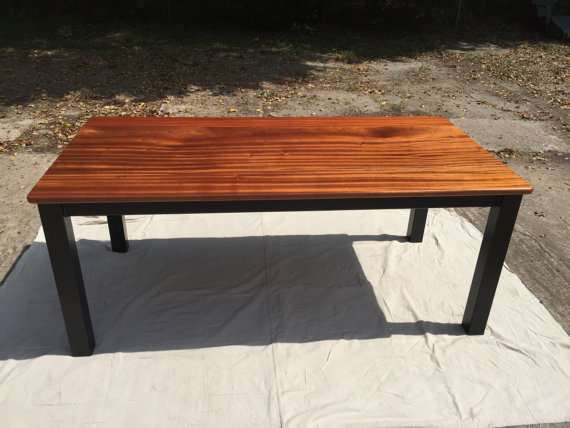 SOLID AFRICAN MAHOGANY DINING TABLE