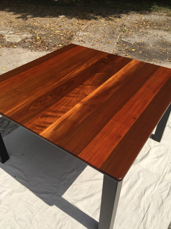 Solid South American Ipe Dining Table Square0020