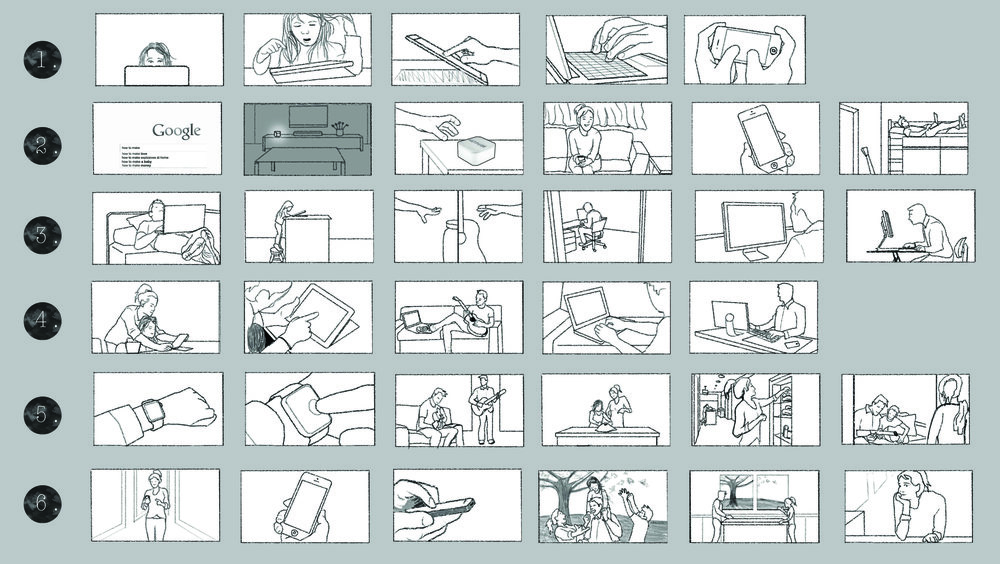 """Storyboards for """"Netpure"""" commercial work with Mozell Films"""