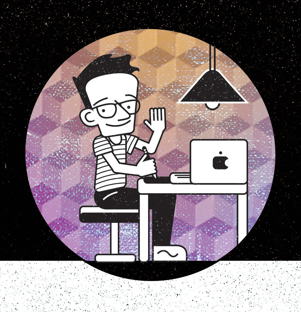 Self-portrait cartoon for personal business card